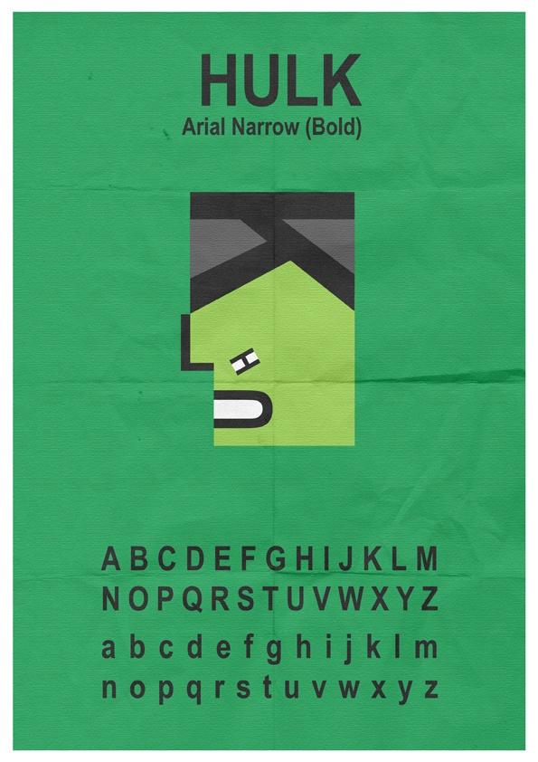 Hulk Typeface by ~mattcantdraw on deviantART