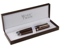 Luxusná kovová písacia súprava s dvoma luxusnými perami