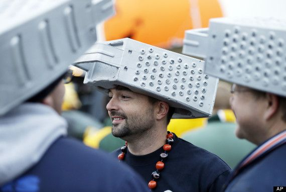 Grater heads. For when the Bears play the Packers!