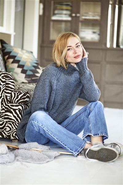 1413: Modell 3 Oversize raglangenser #DIY #knit #strikk