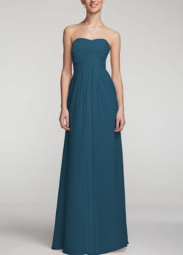 David's Bridal Peacock Bridesmaid Dresses -- finally decided!!! My girls are gonna look awesome in any long chiffon dress of their choice!