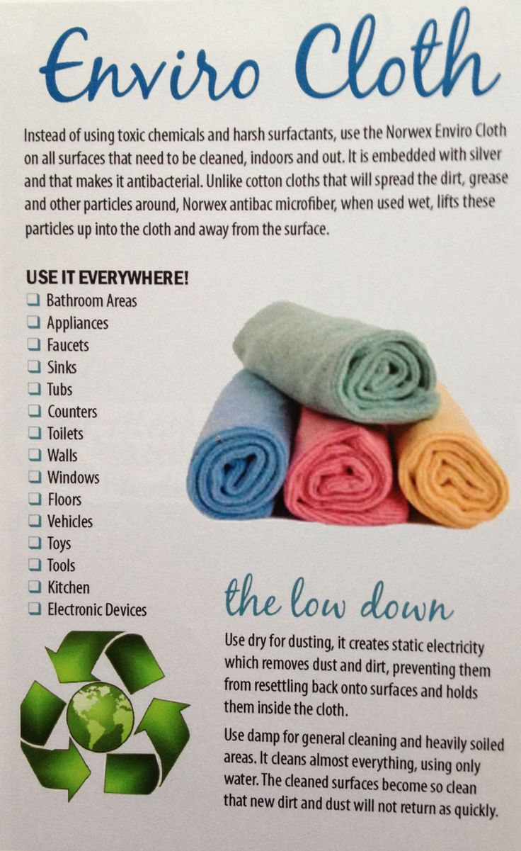 Norwex Enviro Cloth & Water--All you need to clean your home!  www.KimberlyProulx.norwex.biz