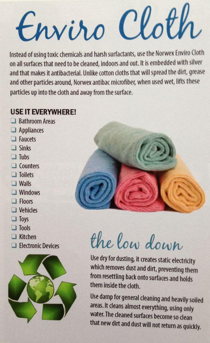 Norwex Enviro Cloth & Water--All you need to clean your home!  www.jessiefarhall.norwex.biz