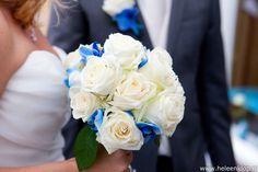 trouwboeket witte roos met blauw - Google zoeken