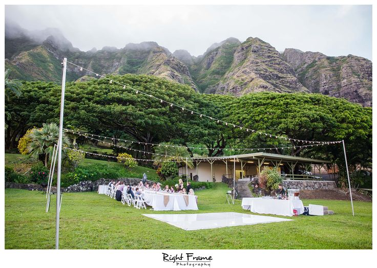 Rightframe Kualoa Ranch Wedding Reception Paliku Gardens Hawaii Destination