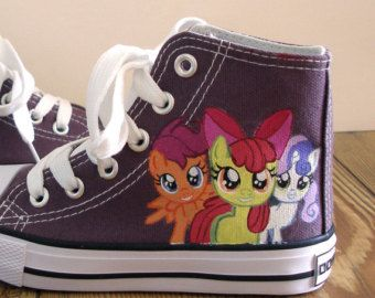 my little pony costumes adult rarity | Hand painted My Little Pony shoes, cutie mark crusaders ...