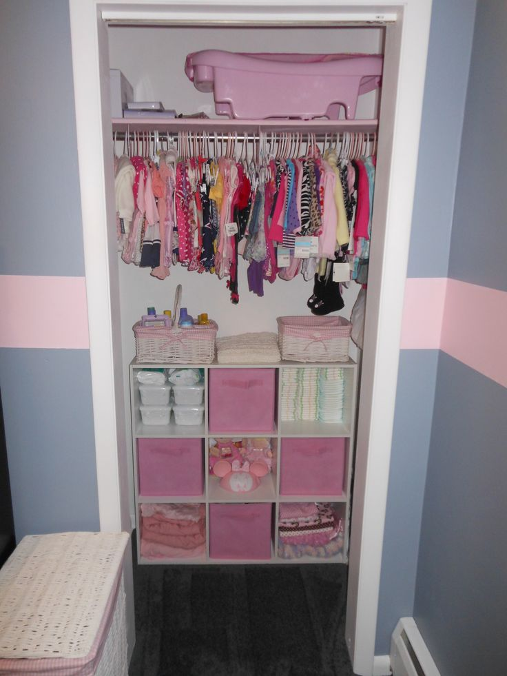 Perfect Closet Set up- Minus the pink of course