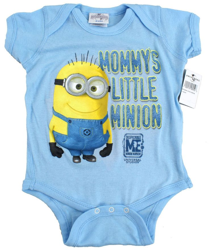 Despicable Me Dave Baby Onesie Blue Mommy's Little Minion Mayhem (All Sizes) NEW