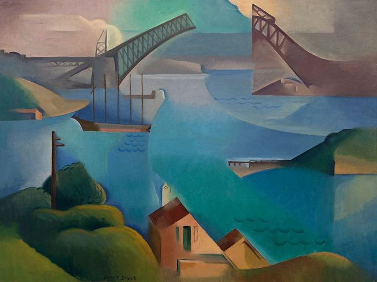 Dorrit Black 'The bridge' 1930. Art Gallery of South Australia, Adelaide