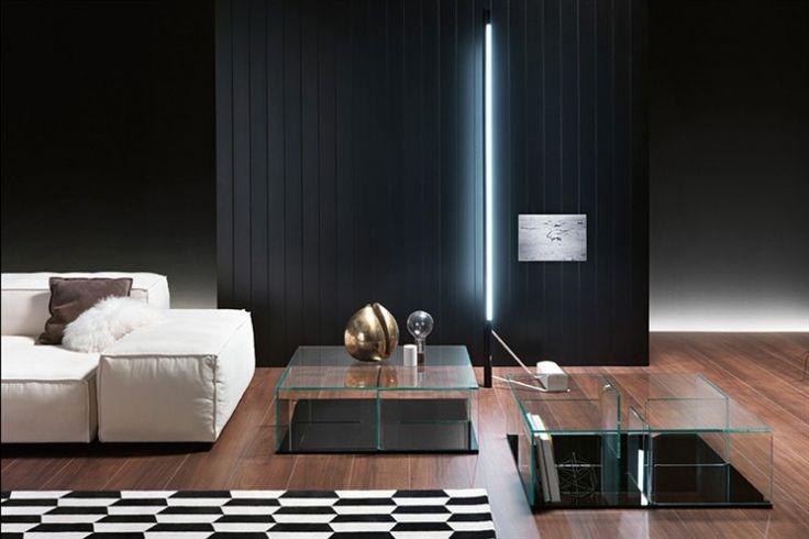 GlazenDesignTafel.nl | Glazen salontafel Quadra | designer: Matteo Nunziati | FIAM | Italian design | vidre glastoepassingen, Leiden