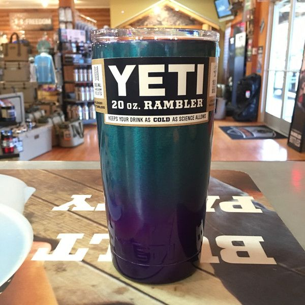 Yeti Rambler 20 ounce - Custom Powder Coated Purple to Teal Fade *Powder Coating Process is applied by Patriot Jacks Outfitters / not Yeti Coolers. *Any warrant