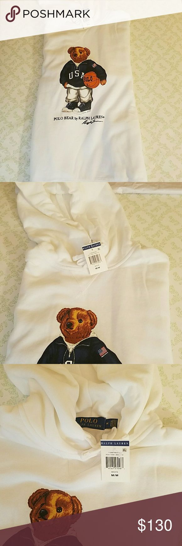 Ralph Lauren pull over hoodie Limited edition Polo Bear pullover hoodie USA Basketball Polo by Ralph Lauren Sweaters
