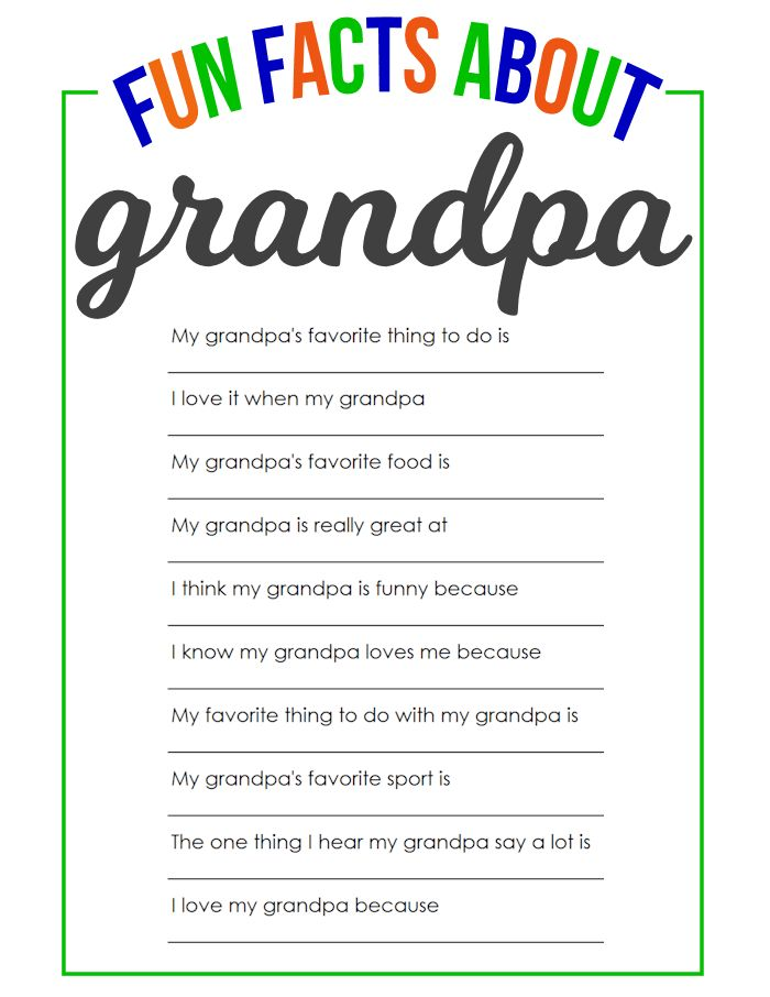 father's day questions printable