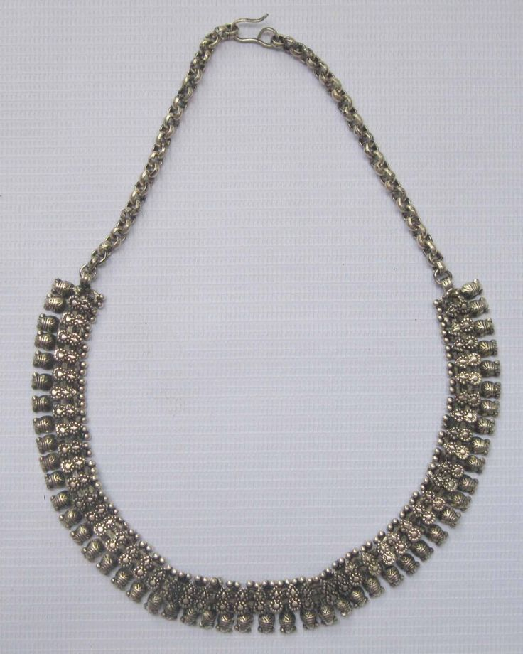 Tibetan Silver Plated Necklace Oxidized Handmade 45cm Long with Chain 2 0cm Wide | eBay