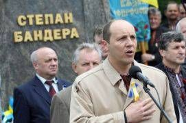 Andriy Parubiy, the Former Neo-Nazi Leader Turned Speaker of Ukraine's Parliament: An outspoken neo-Nazi takes the reins of Ukraine's parliament, as the US and its European vassals remain silent.Picture: Mr. Parubiy commemorating the Ukrainian WWII Nazi leader Stepan Bandera.