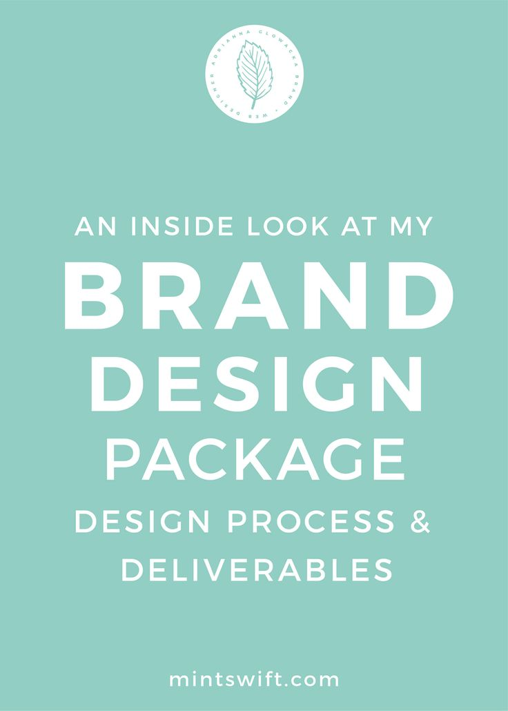 In the last post, we talk about my entire process for my brand design package, but today, I wanted to focus only on the design parts of the process, as well as on design deliverables, so what is included and what files will you receive when you choose to work with me on your brand design