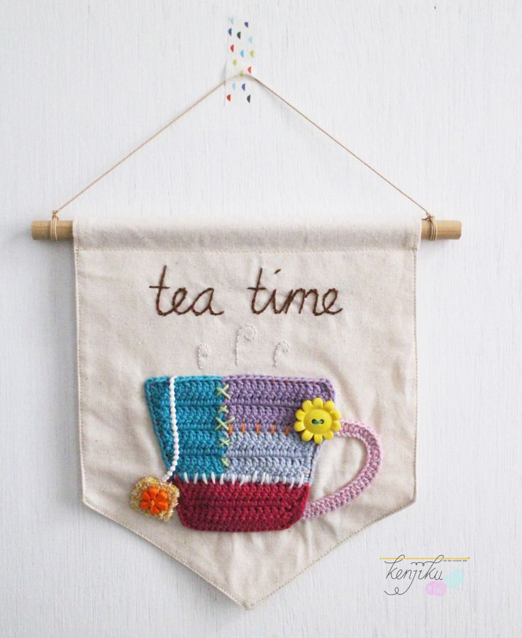 Teacup Banner [ custom order ] by KenjikuMade on Etsy