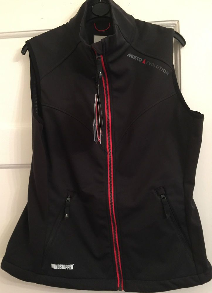 Womens Musto Evolution Windstopper Gilet  Water Resistant Windproof  Size 14