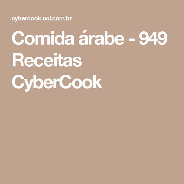 Comida árabe - 949 Receitas CyberCook