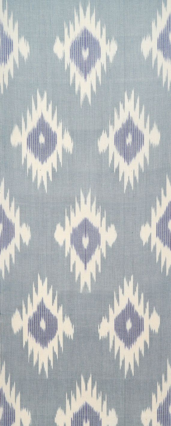 Fabric moreover teal ikat curtain panels on home decor fabric ikat - Blue Fire Ikat Fabric Ideal Curtain Fabric For Vw