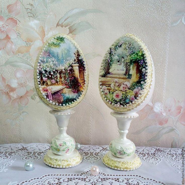Купить или заказать Пасхальные яйца ' В  саду' в интернет-магазине на Ярмарке Мастеров.