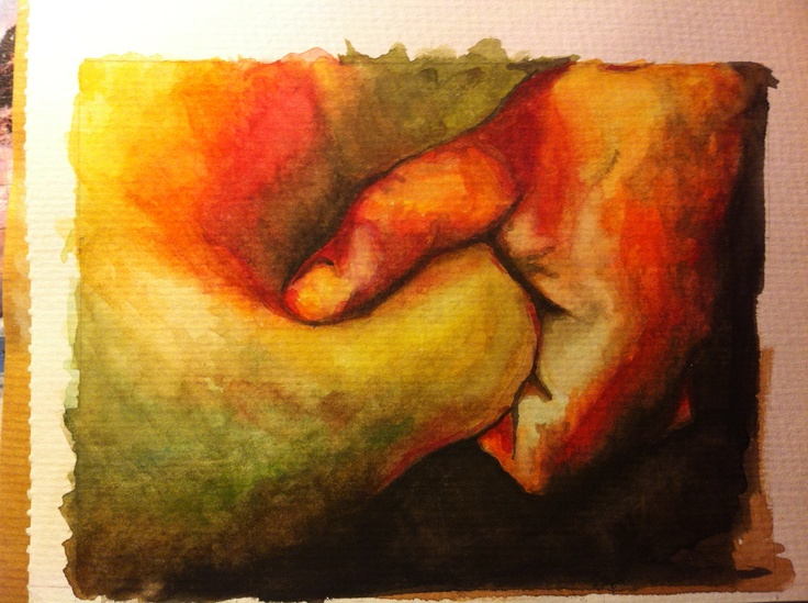 An enlarged section of a Jenny Saville painting. Painted it watercolour :)