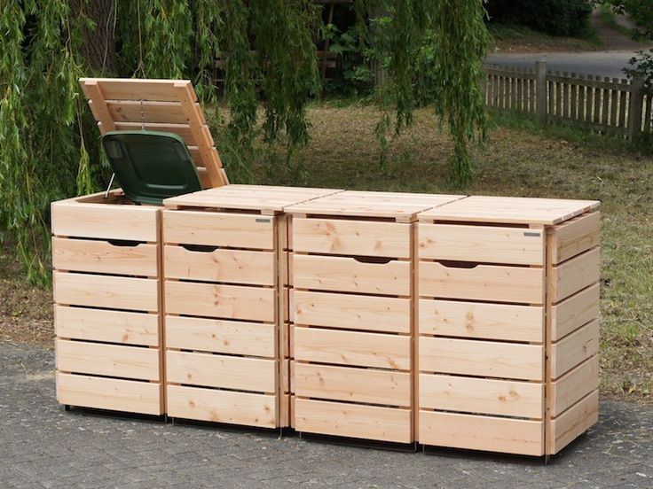 22 besten 4er m lltonnenbox heimisches holz made in germany bilder auf pinterest. Black Bedroom Furniture Sets. Home Design Ideas