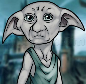 How to Draw Dobby From Harry Potter, Step by Step, Characters, Pop Culture, FREE Online Drawing Tutorial, Added by Dawn, August 18, 2013, 1:40:34 pm