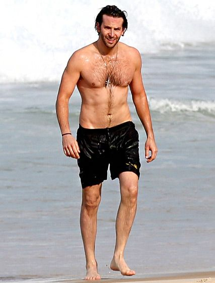Shirtless Friday! Bradley Cooper! Soaking wet!