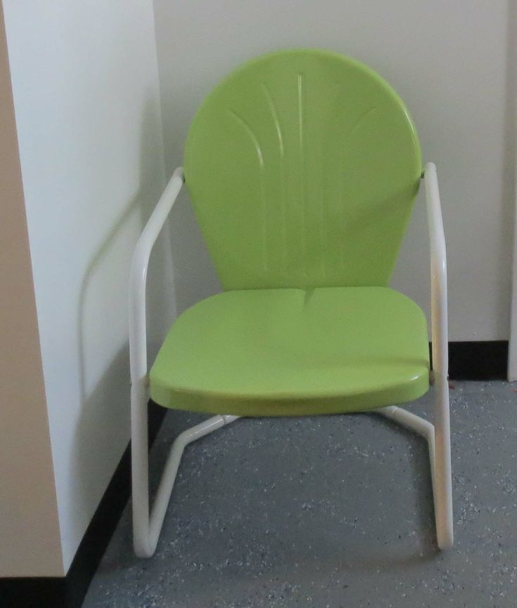 Torrans Manufacturing Lime Green Retro Metal Chair To Match The Breeze  Block.