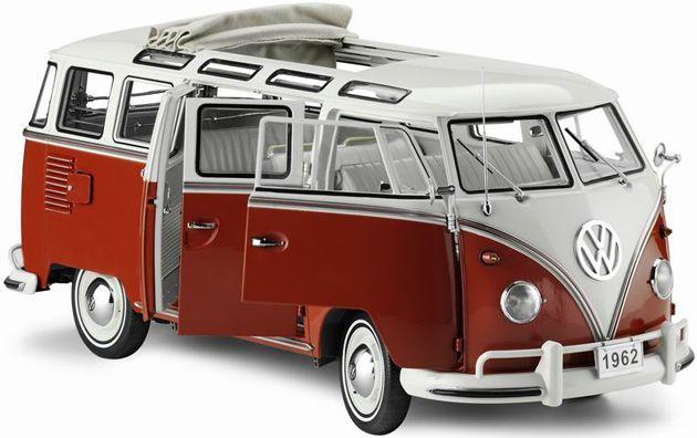1962 Volkswagen Samba Micro Bus Sealing Wax Red Sunstar