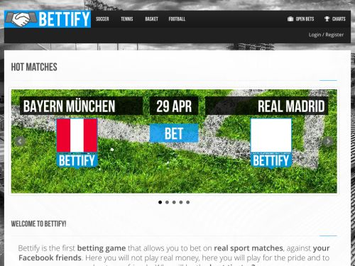 Bettify, betting goes social: betting against your Facebook friends