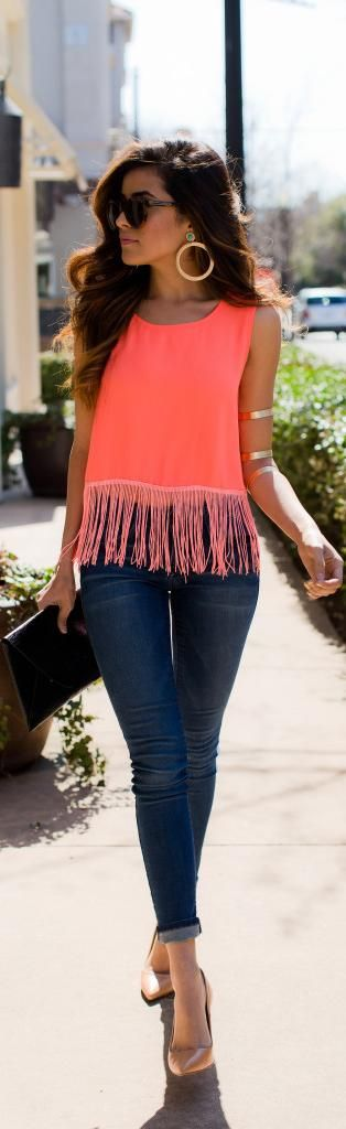 Bohemian Fringe/ Fashion by Sazan -- I love everything about this look!