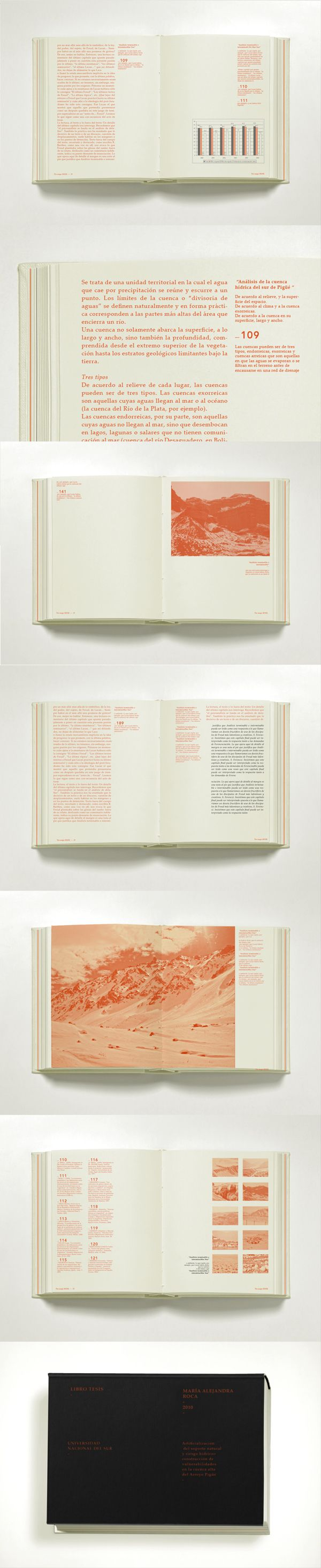 Libro Tesis by Lucía Izco, via Behance