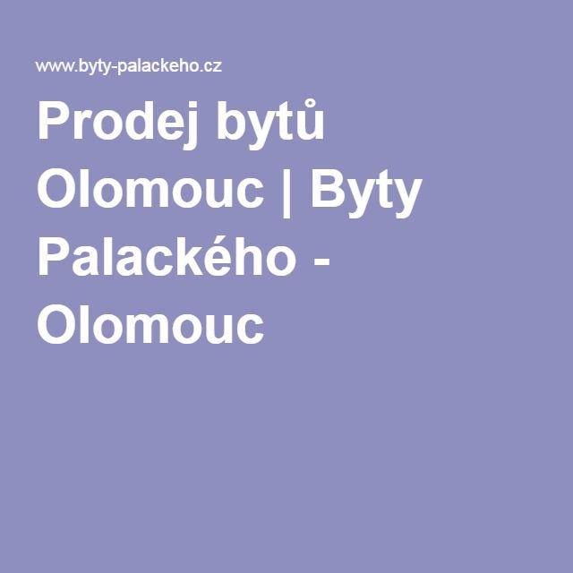 Prodej bytů Olomouc | Byty Palackého - Olomouc