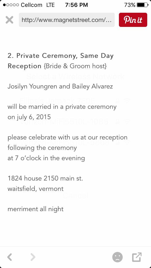 Best 25 Wedding reception invitation wording ideas on Pinterest