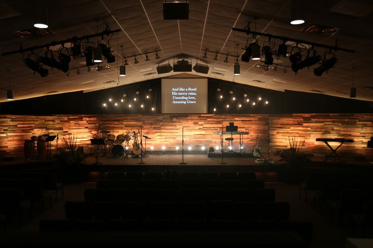 Pallet Wood Wall Lighting Too Strong Church Design