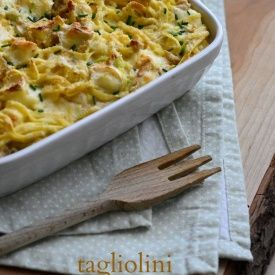 Tagliolini con porri e brie. Condivisa da: http://lapanciadellupo.blogspot.it