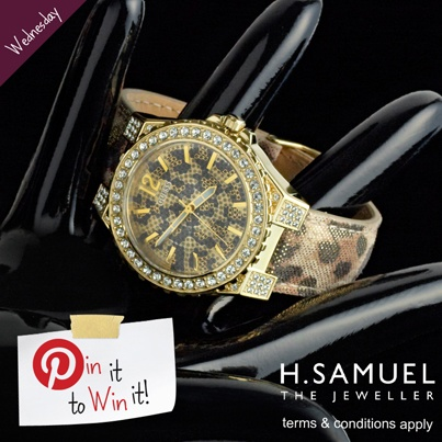 Wednesday- One winner will be drawn on April 11th 2013. Your Facebook or Twitter account MUST BE linked to your Pinterest profile! Terms and conditions: http://www.hsamuel.co.uk/webstore/static/legal/tnc.do#pinittowinit