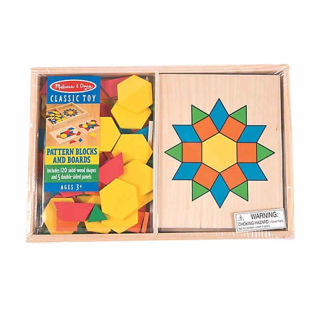 Melissa Doug Pattern Blocks Boards Puzzles Oriental Trading