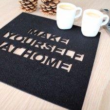 Serwetki filcowe Make Yourself At Home 4szt. Serwetki filcowe Make Yourself At Home 4szt.
