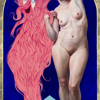 by Dorielle Caimi 60 x 36 in, 152 x 91 cm, Oil & Goldleaf on Canvas http://www.dorielle.com