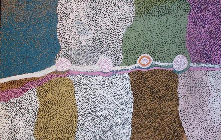 Lucy Loomoo - Nyakungtjuungku - 2009 - 120x80cm - IDAIA - International Development for Australian Indigenous Art