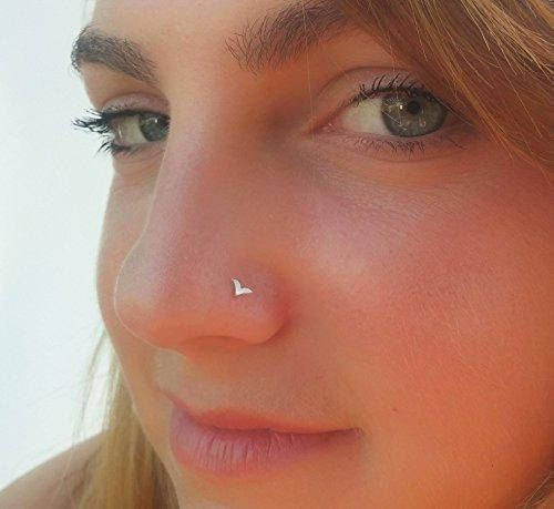 Bird Nose Stud, Silver OR 14K Gold Nose Piercing, Nose Ring, Fits Cartilage, Helix, Rook Earring, Shape Selection  Unique feminine bird nose stud for the stylish individual. Intended to highlight pretty features in your appearance or to add a cool edge to your style.  The bird is a symbol of the human soul and it represents goodness, joy, wisdom, and intelligence. The bird flight is a symbol of freedom, perspective, and hope, which inspired so many of us.  This stud is easy and comfortable…