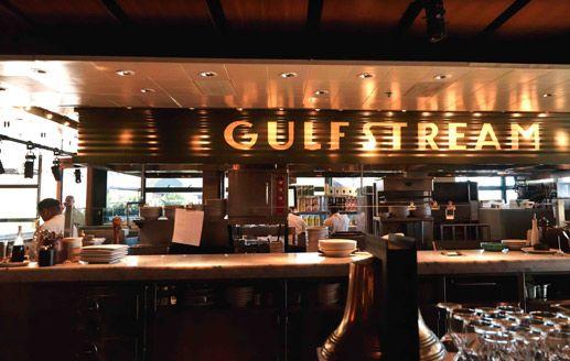 Gulf Stream.  love their seafood, oyster, artichoke dip, steak & even burgers. 10250 Santa Monica Blvd, Century City Mall ( close to UCLA).  Tel:  310-553 3636.