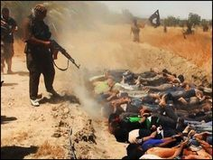 "ISIS Mass Execution of 1,500 Iraqis...G-R-A-P-H-I-C -- RARE Video Surfaces of ISIS Murdering 1,500 Iraqi Citizens (Video) Absolutely Despicable! THIS give all the so-called ""peaceful Muslims"" a bad name. Why aren't Muslims around the world denouncing this form of barbarism. ISIS and radical Islam is a CANCER to our world -- and MUST BE STOPPED!!!"