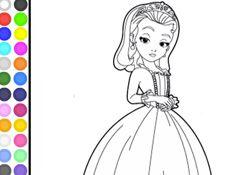 SofiaJuegos.com - Juego:  Colorear Princesa Amber Gratis - Pintar Princesita Sofia Princesas Disney Online