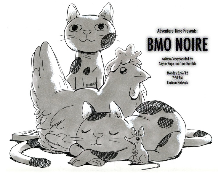 Herpich(s) BMO Noire - Bebe the Remote,Officer Davis, Lorraine the chicken, Cat officer, and Ronnie the Mouse