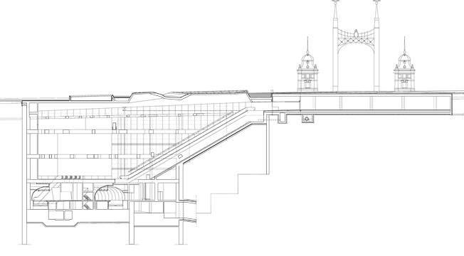 Metro4, Fövám tér station, section