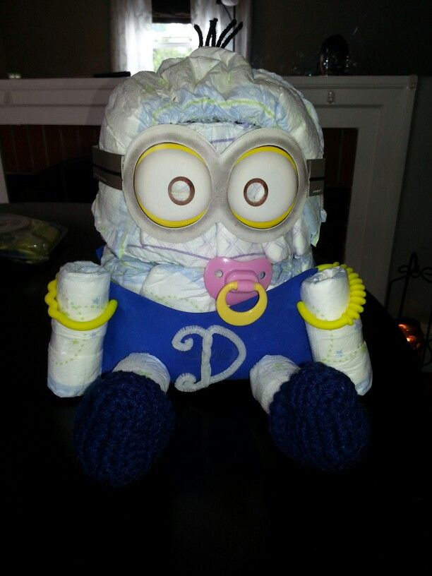 my minion diaper cake! | Diaper cakes | Pinterest | Minion ...